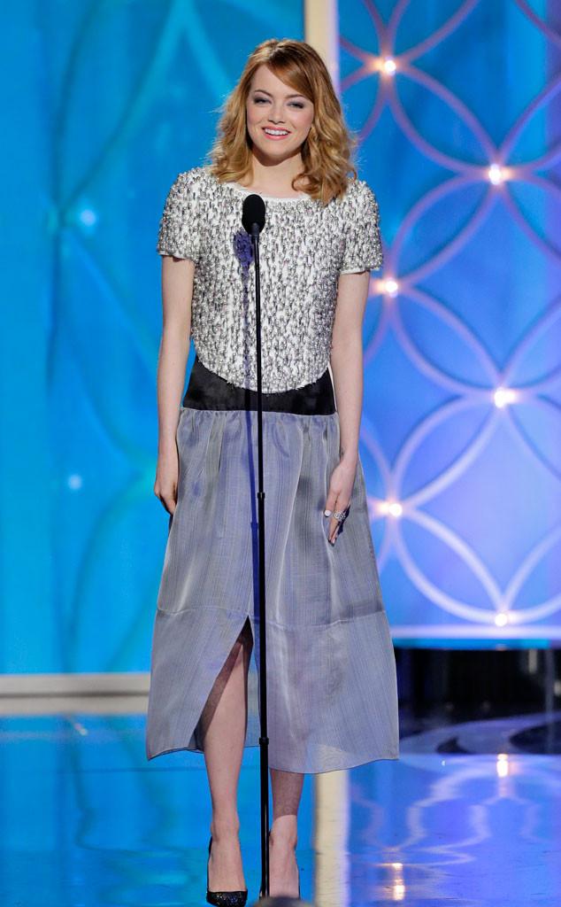 Emma Stone à la cérémonie des 71ème des Golden Globes