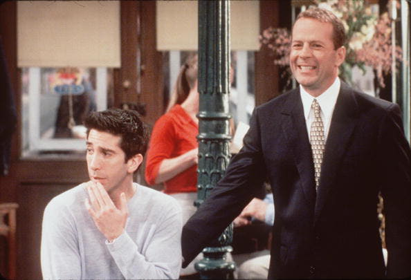 BRUCE WILLIS GUEST STARS ON THE SHOW FRIENDS