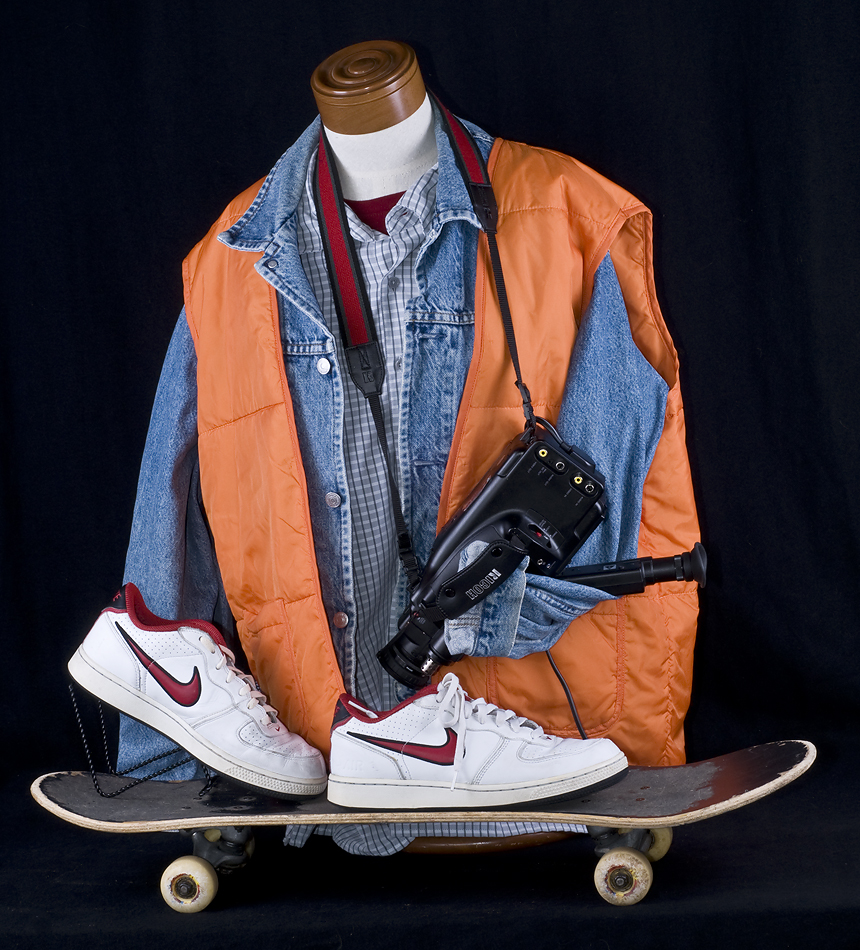 Halloween - Costume - Back to the Future - Marty McFly Costume - Skateboard Video Camera