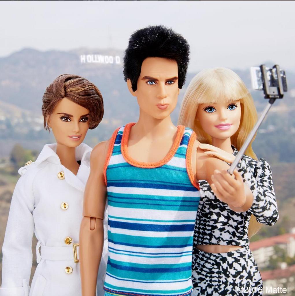Barbie Zoolander Hansel Penelope selfie