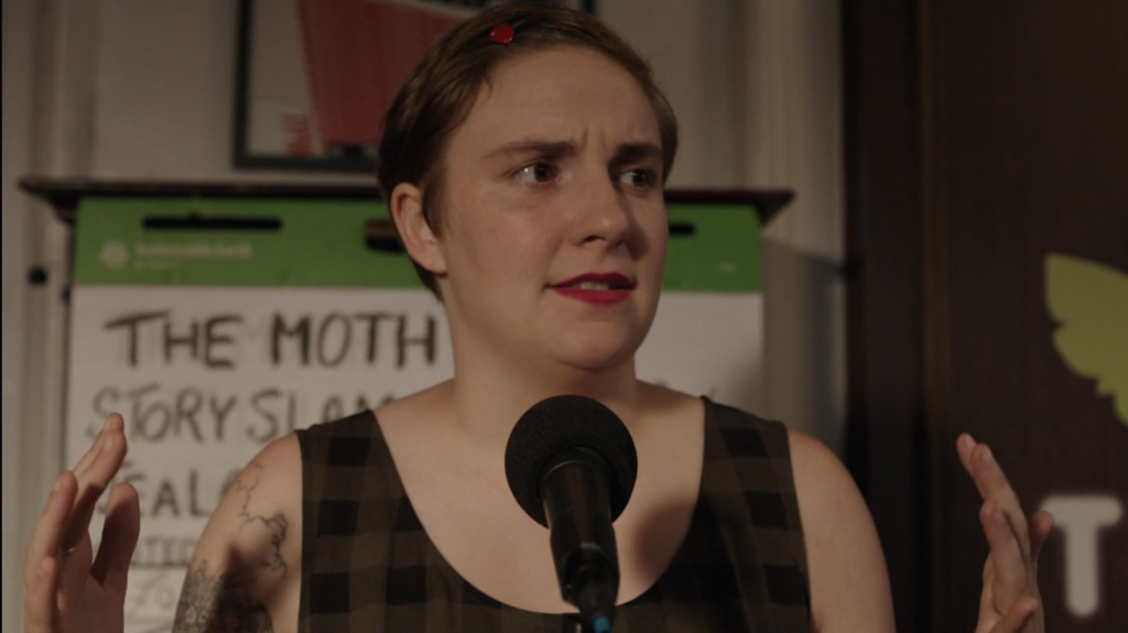 Hannah Horvath en un stand up de tragicomedia glorioso