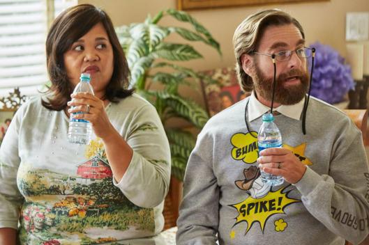 Ellen D. Williams y Zach Galifianakis como Nicole y Dale Baskets.