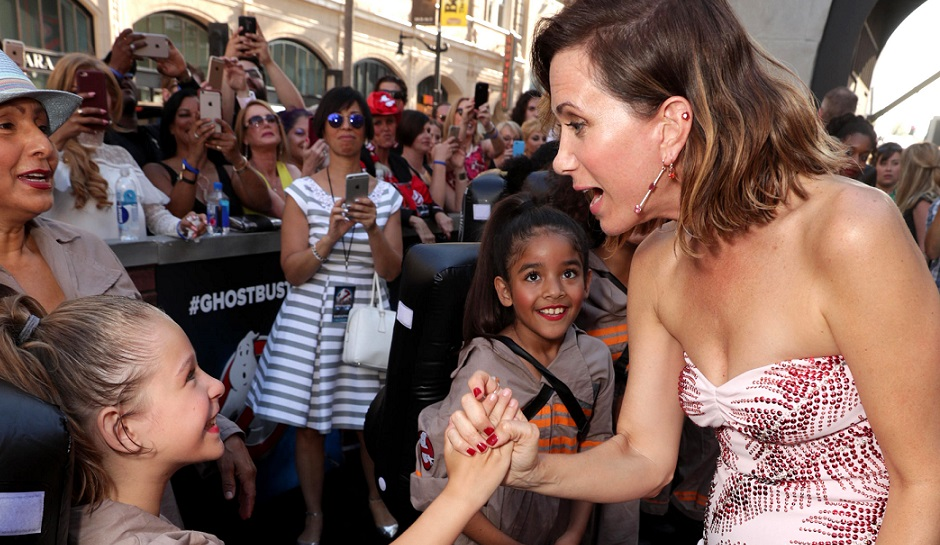 "Kristen Wiig is seen at the Los Angeles Premiere of Columbia Pictures' ""Ghostbusters"" at TCL Chinese Theatre on Saturday, July 9, 2016, in Los Angeles. (Photo by Eric Charbonneau/Invision for Sony/AP Images)"